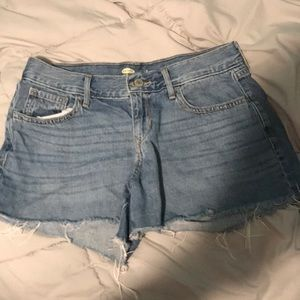 Old navy low rise jean shorts